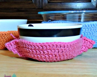 Crochet Bowl Cozy - Crochet PATTERN PDF ONLY - no more burnt hands