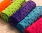 Minky Burp Cloths - Dimple Dot - (Set of 2) Pick Your Color/s