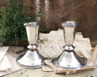 Sterling Candle Holder Taper Candle Sticks