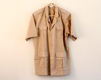 Mens guayabera shirt - light brown
