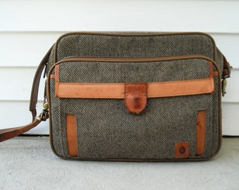 Hartmann luggage - tweed carryon bag