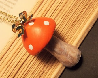 Red Toadstool Necklace