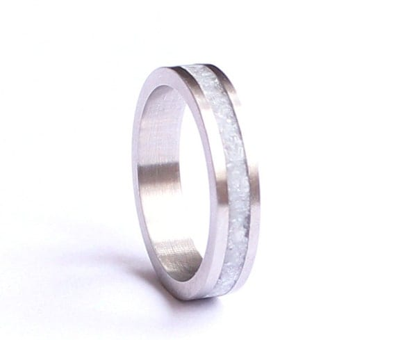 Womens Wedding Band Stainless Steel Wedding Ring With