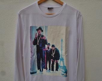 Rare Ricky Powell Run Dmc Hip hop Casual Longsleeve T-Shirt