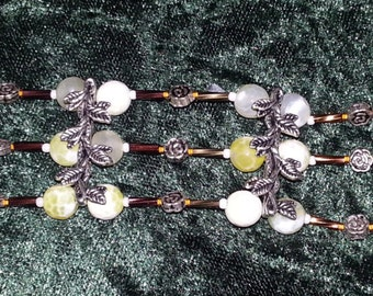 Bracelet Roses and Thorns Dragon Vein and Silver