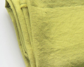 Washing Cotton Linen Solid - Yellow Green - By the Yard 88130