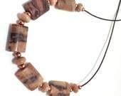 Kona Dolomite Sliding Stone Adjustable Necklace (rectangle-light)
