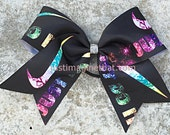 """3"""" Width Cheer Bow 7""""x7"""" Texas Size Cheer Bow Nike Inspired Just Do It"""