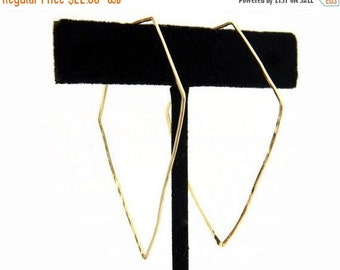 SALE - Diamond Hoop Earrings, Gold Hoop Earrings, Dainty Earrings 14K Gold
