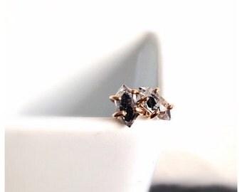 Black Diamond Earrings, Gold Stud Earrings, Diamond Earrings, Diamond Studs, Dainty Earrings, Diamond Stud, Herkimer Stud Earrings