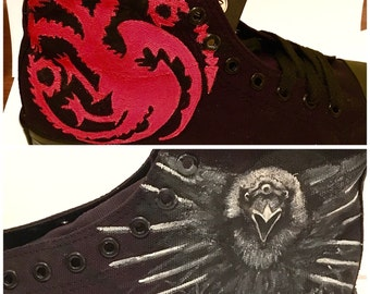 Game of thrones - Custom hand painted converse style shoes