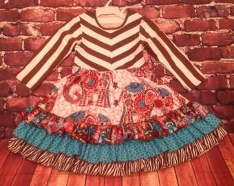 Lovely summer princess ruffle dress girls boutique look!