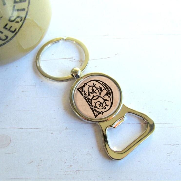 bottle opener keychain custom gift for him groomsman gifts. Black Bedroom Furniture Sets. Home Design Ideas