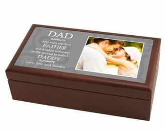 Special Daddy Personalized Wood Photo Keepsake Box