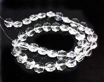 1 strand 40 pieces 8mm flower shape glass beads-4696