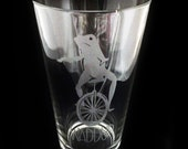Dat Boi Etched Glass So Beer Pint  frog Meme Waddup