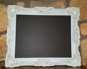 Vintage Frame Chalkboard, Great Wedding Deco, Gift, Office and more.  Serene Blue, Rustic Photo Frame
