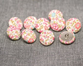Liberty of London Katie and Millie Fabric Covered Buttons