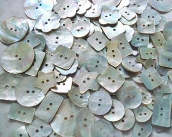 Assorted MOP Buttons - 50 Abalone Buttons - Akoya Shell Buttons