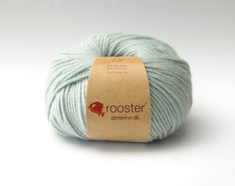DK Yarn - Rooster Yarn - DK wool - alpaca and merino wool - 50g ball of wool in Glace colourway - light blue grey wool