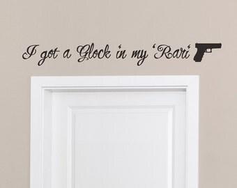 Fetty Wap 679 Glock In My Rari Lyrics Quote Wall Sticker Decal Vinyl i got a glock rap lyric quotes stickers decals graphics glock gun