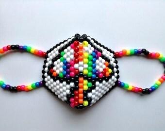 Rainbow Mushroom Kandi Mask