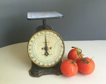 Vintage Kitchen Scale Columbia Family Scale, Black Sept 17, 1906