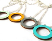 Wooden Hoop Circle Necklace - Geometric Jewellery - Laser Cut - Gifts For Her - Wooden Jewelry - Geometric Necklace