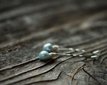 Blue Pearl Hair Pins Blue Freshwater Pearl Decorative Bobby Pins Wedding Hairpins Gemstone Bobby Pins