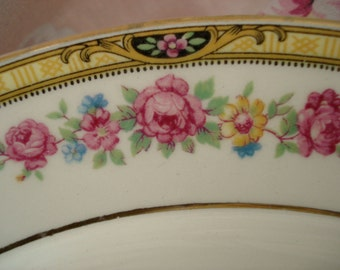 Vintage Wedding Dinner Plates Floral Edwin Knowles Shabby Cottage Chic Set of 7 Vintage Bridal Shower