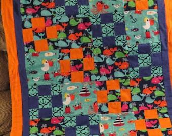Sea Life Baby Blanket