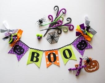 HALLOWEEN DECOR by Sweet Georgia Sweet / Halloween banner / Boo banner / Halloween decorations / Jack o lantern / Halloween birthday banner