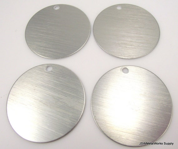 Inch clear brushed aluminum tags extra large blank