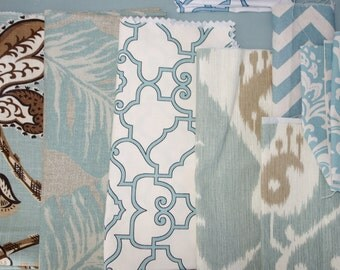 Remnant/Scrap Fabric - Blue-green, Spa fabric