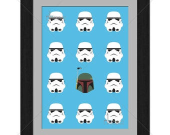 Star Wars - Stormtrooper - Boba Fett - Minimalistic - Limited Edition A3 Print Of 100