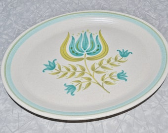Franciscan Tulip Time Serving Platter ~ Franciscan Earthenware ~ Mid Century ~ Serving ~ Retro ~ Turquoise Platter ~ Epsteam