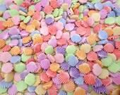 200PCS mixed color tiny plastic shell shape beads with hole