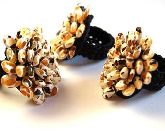 Baltic Amber Ring Flower