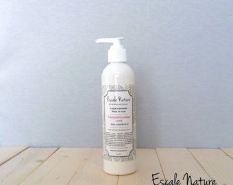 Moisturizing pink grapefruit lotion for hand and body, 100% natural and handmade, 240 mL