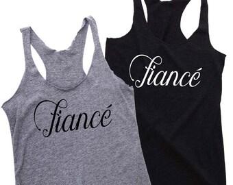FIANCE shirt, Bride Tank Top Shirt, Bride Tank, Shirt for the Bride, Bride Shirt, Fiancé gift, Wedding Gift, Engagement Gift, Wedding Gift