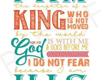 Word art Quote - I AM HIS ~ chalkboard style