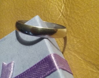 Men's Sterling Silver Band Ring Size 14.5