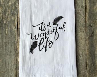 Wonderful Life Tea Towel