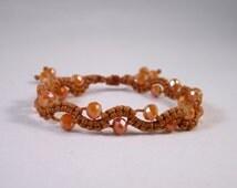 Crown Wave Beaded Macrame Bracelet (224)
