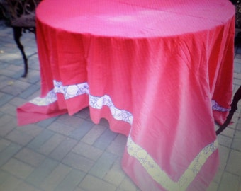 Vintage Bright Red/Black/White Apples-99x71 Tablecloth-Dining Table Cover-Tag