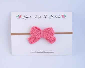 Customizable Ladylike Crochet Hair Bow