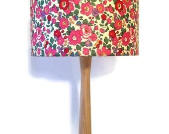 REDUCED liberty fabric lampshade and ash table lamp