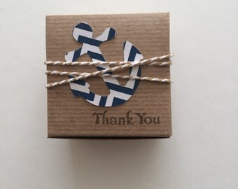 30  Nautical baby shower  favor boxes   Birthday favor box  gift wrap  nautical themed birthday party