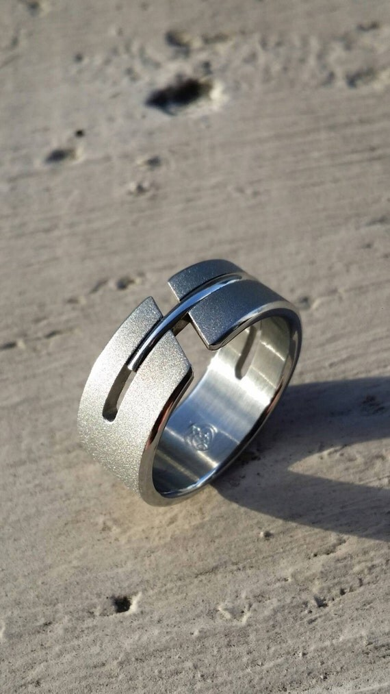 "11 ""DEBONAIR"" handmade stainless steel ring (not casted)"
