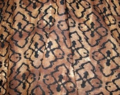 Black & Brown Natural Batik Look Rayon Print Fabric